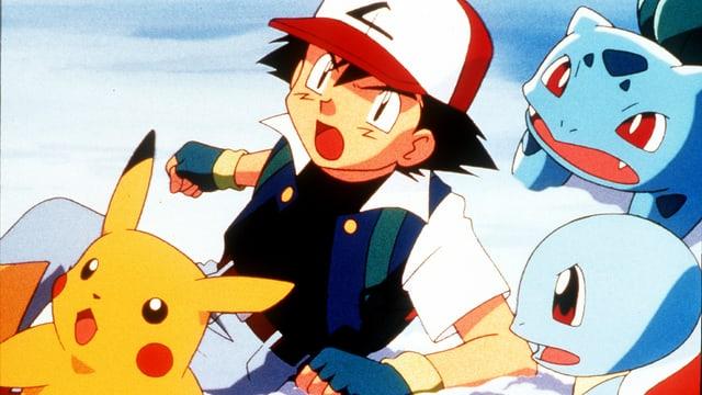 Eine Szene aus dem Anime «Pokémon».
