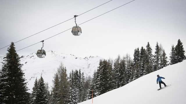 snowboardist sut gondlas