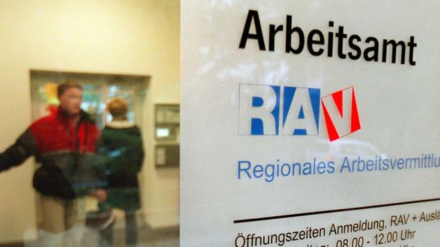 Ein regionales Arbeitsvermittlungszentrum RAV.