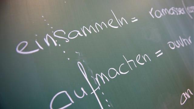 Französischunterricht in einer Schweizer Schule
