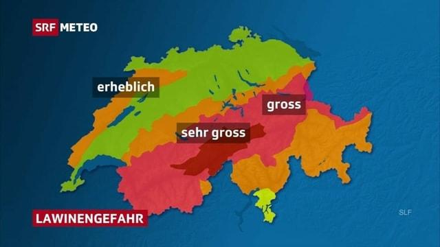 Vom Oberwallis bis ins Tujetsch besteht sehr grosse Lawinengefahr, also Stufe 5 von 5.