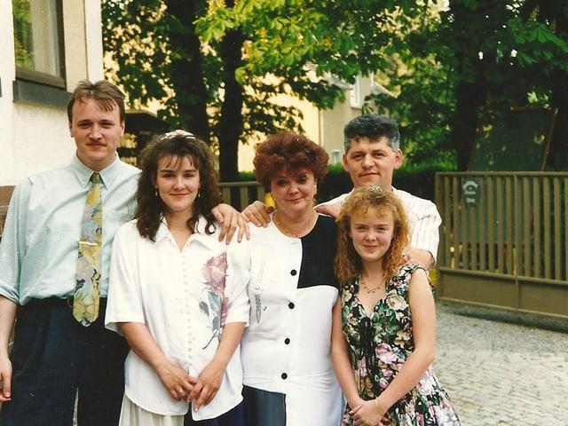 Tino Schnabel mit seiner Familie.