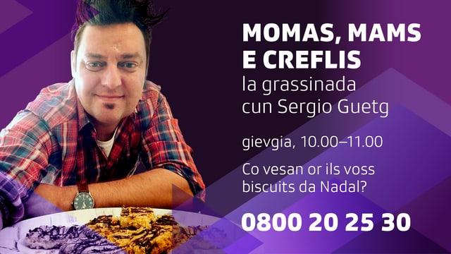 Sergio Guetg davant biscuits da Nadal.