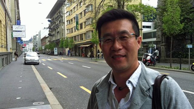 Luzern-Promotor Alex Wang an der Haldenstrasse in Luzern.