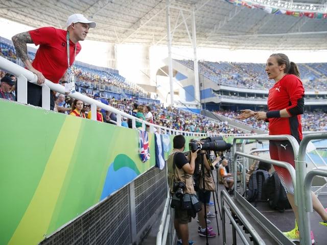 Mitch Greeley und Nicole Büchler an den Olympischen Spielen in Rio 2016.