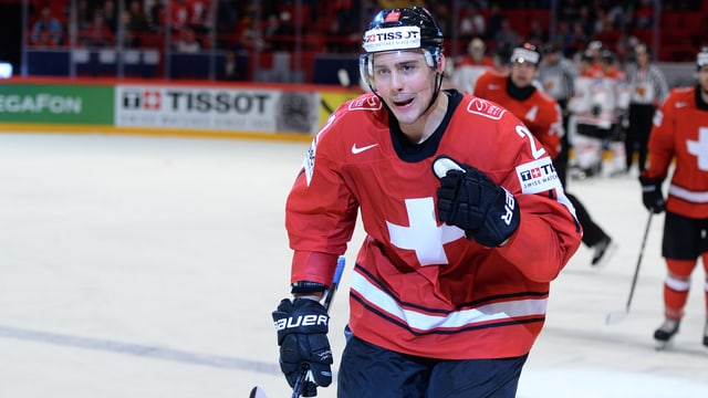 Nino Niederreiter versucht, bei den Minnesota Wild in der NHL Fuss zu fassen.