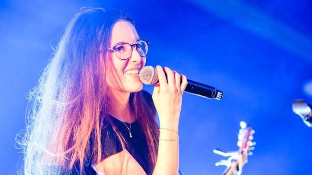Veronica Fusaro auf einer Bühne