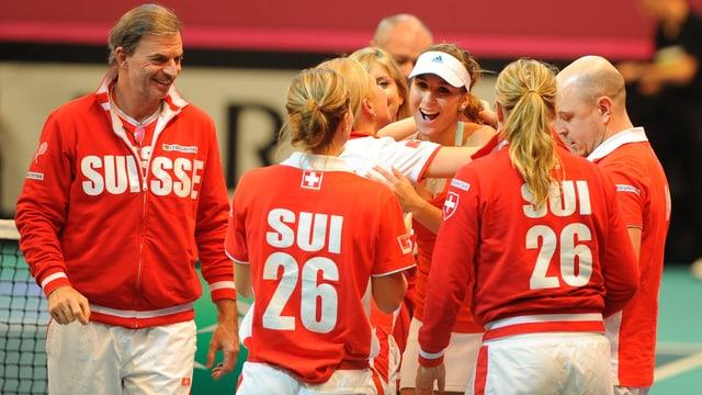 Das Schweizer Fed-Cup-Team duelliert sich mit Brasilien.