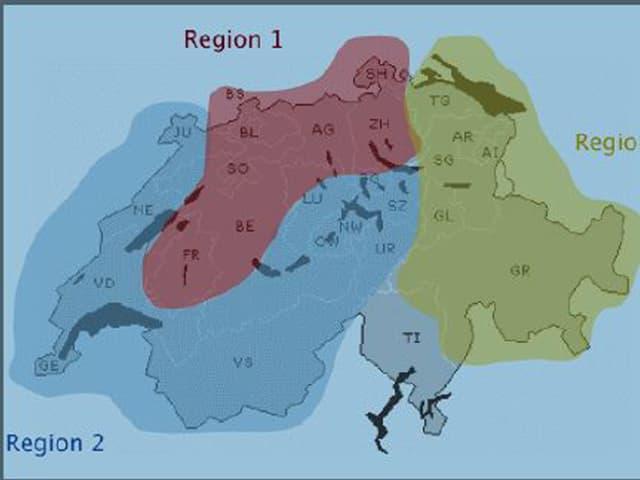 Grafik der Kiesgrubenregionen