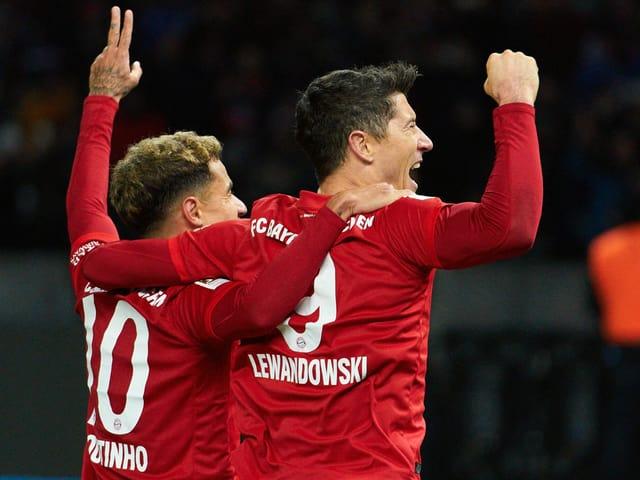Coutinho und Lewandowski.