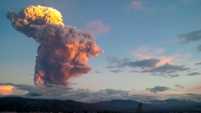 Der Tungurahua-Vulkan.