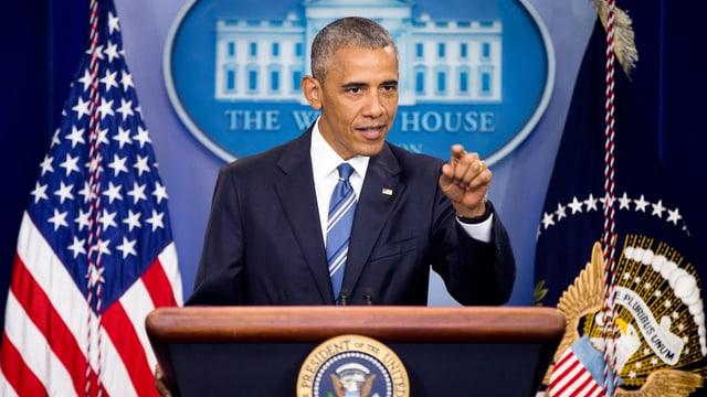 Il president american Barack Obama durant ch'el declera ch'il Supreme Court bloccheschia ses plans.