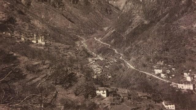 Buseno avant la fabricaziun dal lag artifizial 1950.