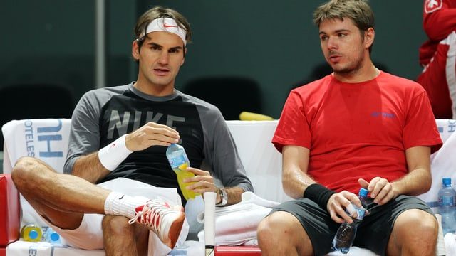 Roger Federer (links) und Stanislas Wawrinka.