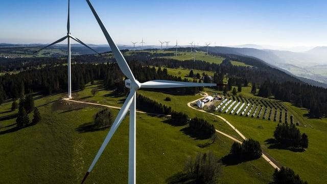 Windräder, Solaranlage