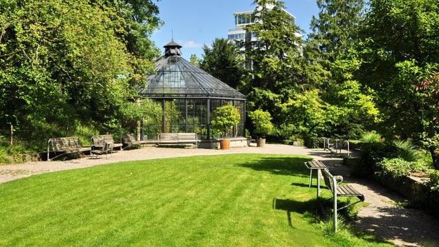 Der Alte Botanische Garten in Zürich: Hörplatz für das erste Open Air-Literaturfestival.