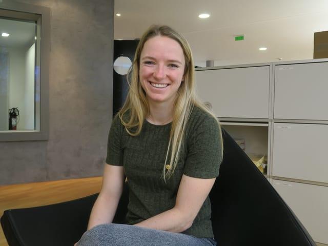 Die Luzerner Langläuferin Nadine Fähndrich.