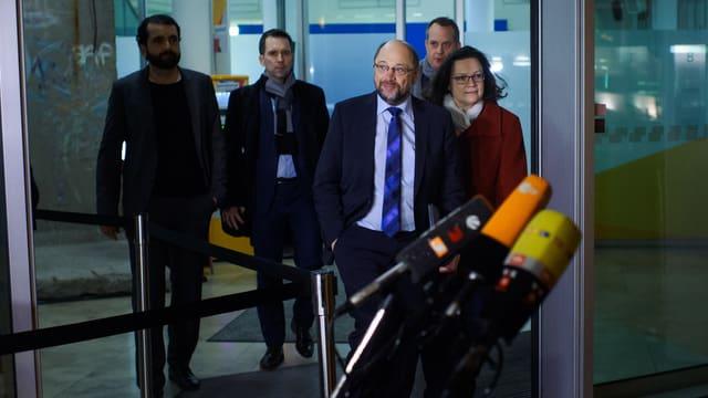 Purtret da Martin Schulz ed Andrea Nahles.