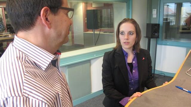 Die beiden diskutieren im Studio des Regionaljournals in Aarau.