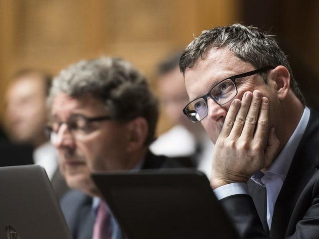 Der Nidwaldner Nationalrat Peter Keller im Bundeshaus.
