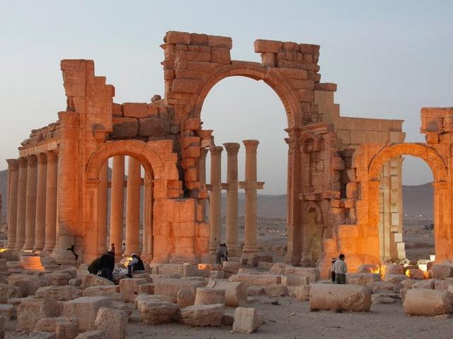 Historische Oasenstadt in der Wüste.