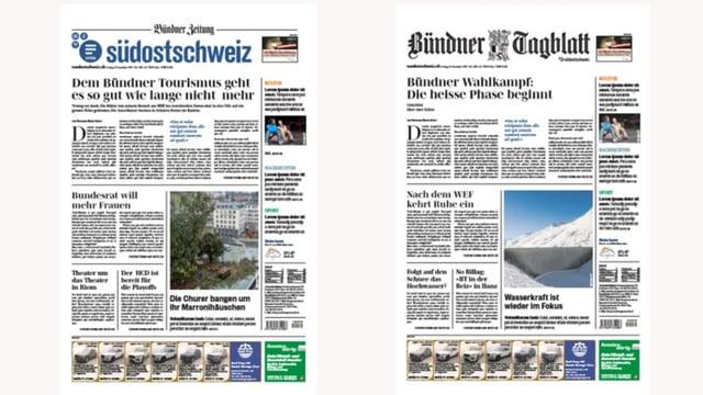 aspect sin las gasettas Südostschweiz e Bündner Tagblatt