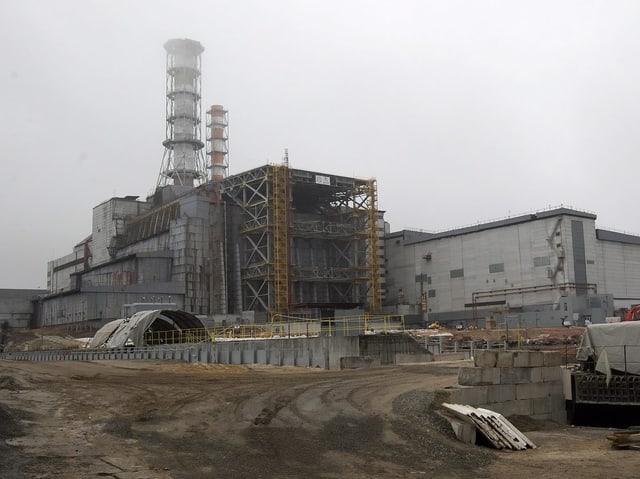 De havarierte Reaktor von Tschernobyl