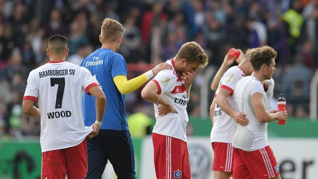 Bei den Spielern des Hamburger SV.
