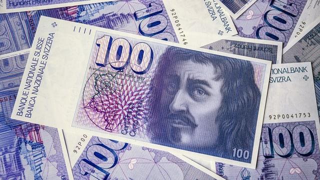 100-Franken-Note der Serie 6.