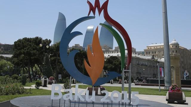 Das Logo der Europa-Spiele in Baku