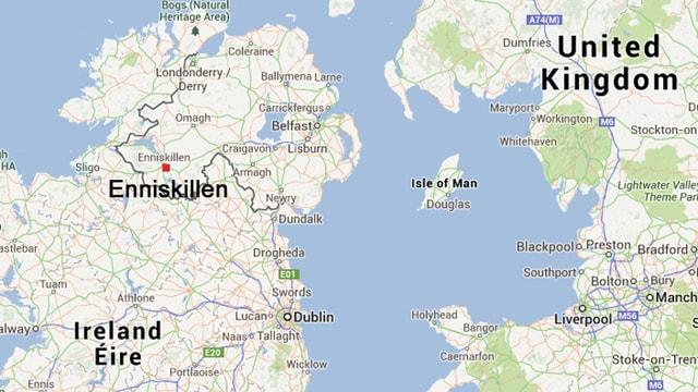 Karte Enniskillen