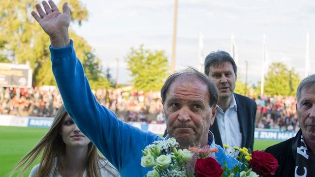 Raimondo Ponte nimmt Abschied vom Brügglifeld.