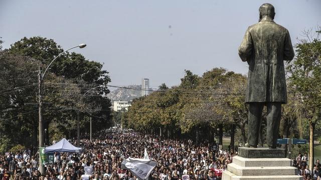 Demonstrants en Brasilia.