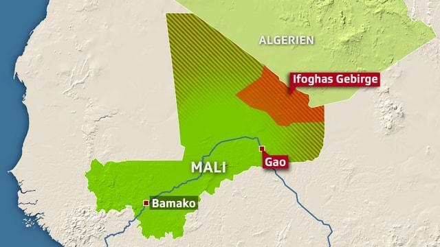 Die Islamisten sollen sich im  Ifoghas-Gebirge verschanzt haben.