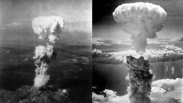 Atompilze über Hiroshima und Nagasaki