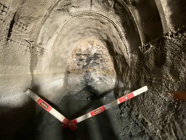 Il tunnel da segirtad curt avant la davosa siglientada.