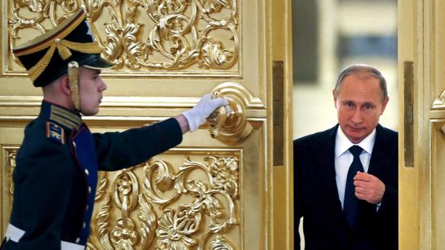 Präsident Putin im Präsidentenpalast. (reuters)