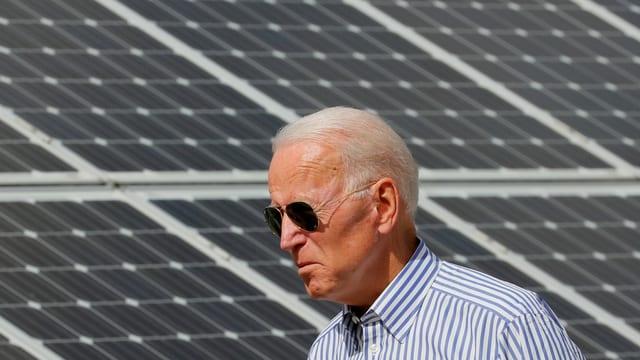 Biden besucht Solar-Anlage in Plymouth, 28. Januar 2021