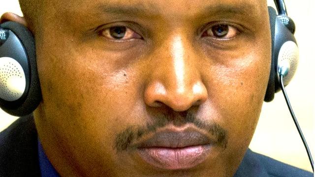 Portrait des kongolesischen Ex-Rebellenchefs Bosco Ntaganda.