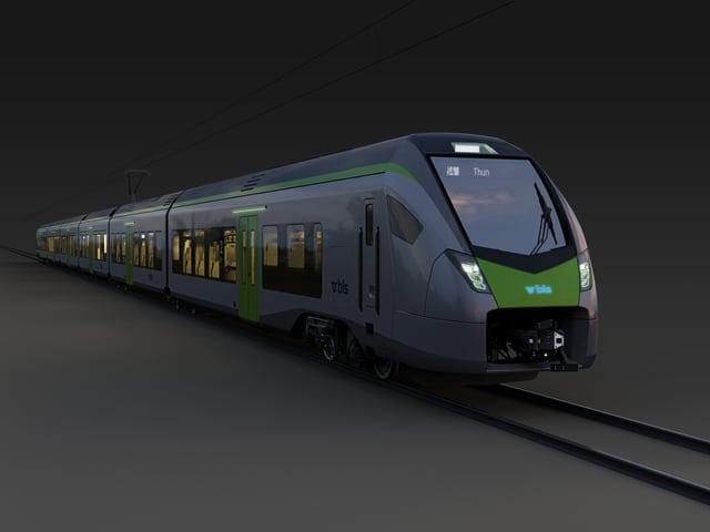 Ein neuer Zug in voller Länge.