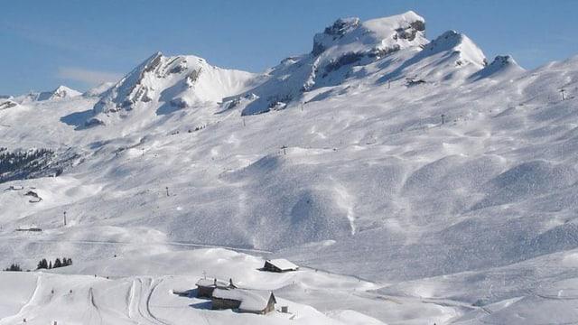 Verscheinte Winterlandschaft Hoch-Ybrig
