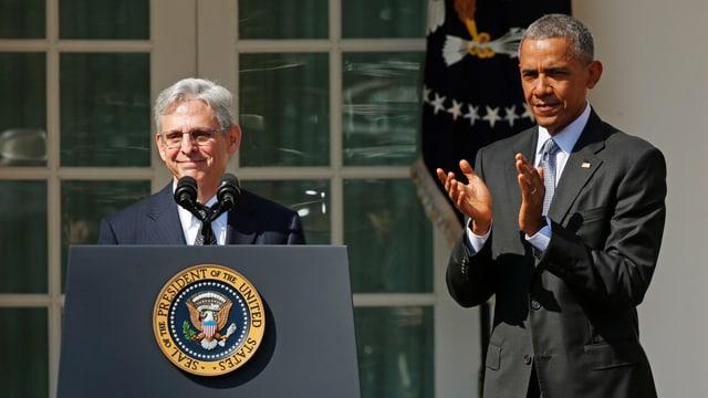 Merrick Garland e Barack Obama.