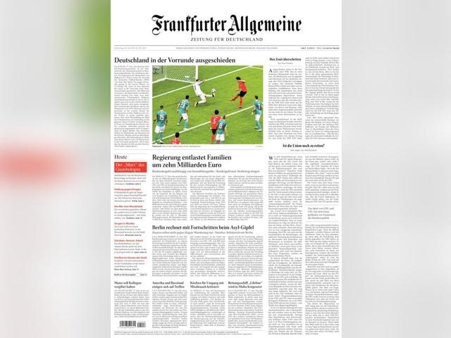 Titelseite Frankfurter Allgemeine