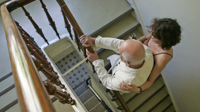 Treppen und Mann