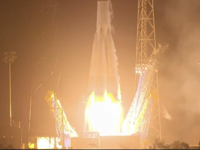 Sojus-Rakete beim Start