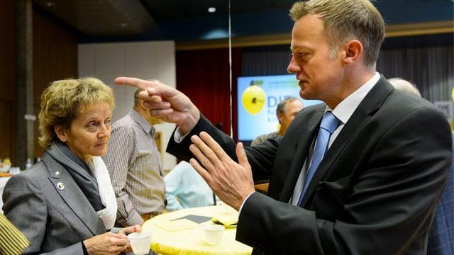 Martin Landolt und Eveline Widmer-Schlumpf an der BDP-Delegiertenversammlung.