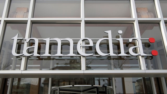 Il logo da Tamedia vid la chasa principala.
