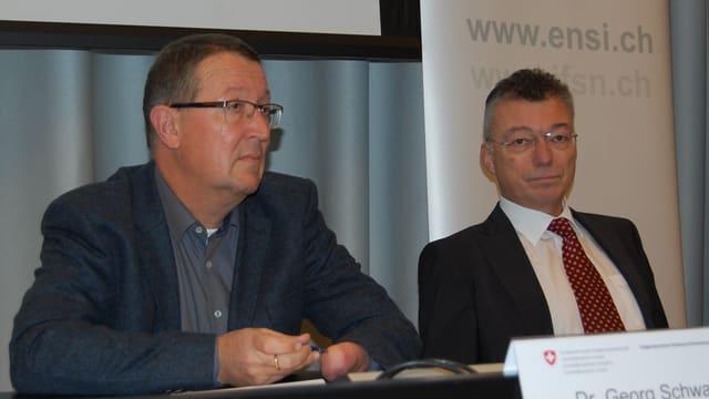 ENSI-Direktor Hans Wanner (rechts), Vizedirektor Georg Schwarz.