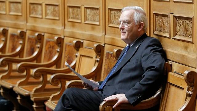 Ein Bild von Hans Rudolf Gysin im Nationalratssaal.