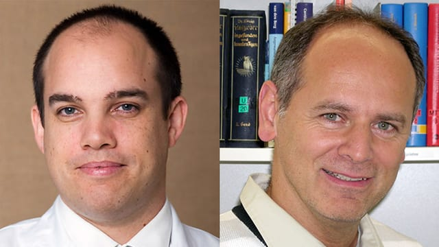 PD Dr. Norman Espinosa und Physiotherapeut Frank Spengler